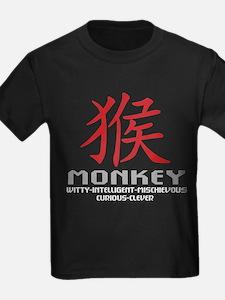 Chinese Zodiac Monkey Symbol T