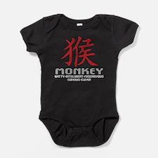 Chinese Zodiac Monkey Symbol Baby Bodysuit