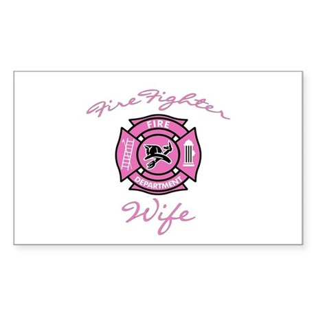 Firefighter Wife Rectangle Sticker