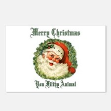 merry christmas ya filthy Postcards (Package of 8)