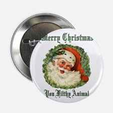 "merry christmas ya filthy a 2.25"" Button (10 pack)"