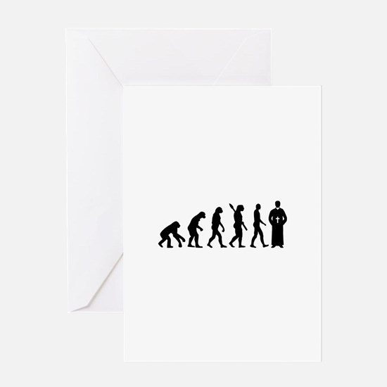 Evolution Priest Greeting Card