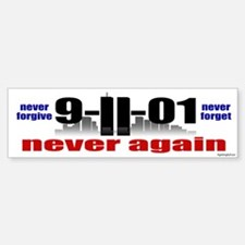 9-11-01 Memorial Bumper Car Car Sticker