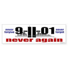 9-11-01 Memorial Bumper Car Sticker
