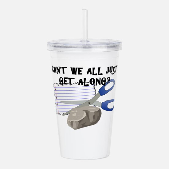 Can't We All Just Get Acrylic Double-wall Tumbler