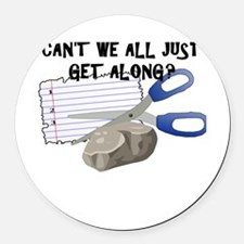 Can't We All Just Get Along? Round Car Magnet