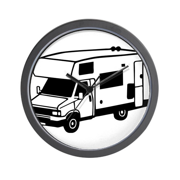 Camping car motorhome wall clock by admin cp110038024 for Housse tyvek camping car