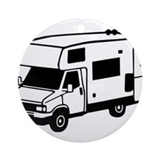 camping car motorhome Round Ornament