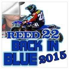 Reed Back in Blue Wall Decal