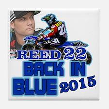 Reed Back in Blue Tile Coaster
