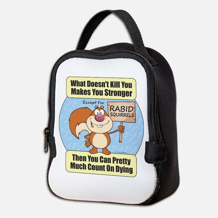 Rabid Squirrels Neoprene Lunch Bag