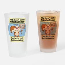 Rabid Squirrels Drinking Glass