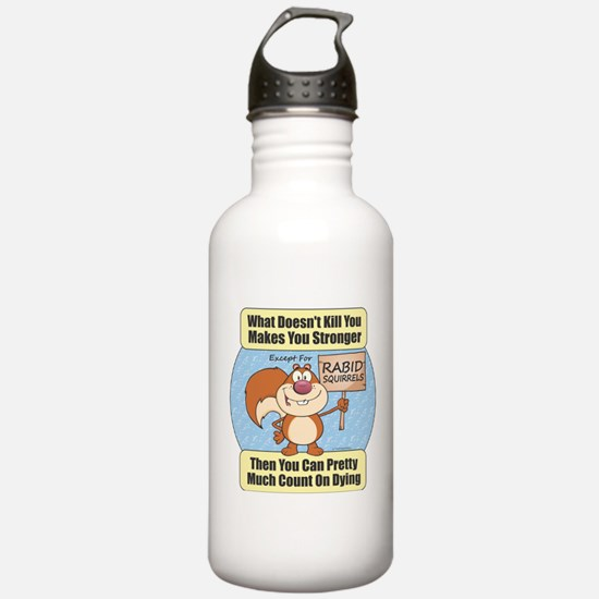 Rabid Squirrels Water Bottle