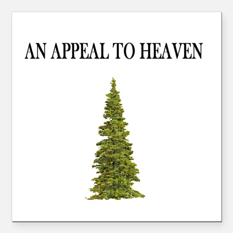 """An Appeal To Heaven Flag Square Car Magnet 3"""""""