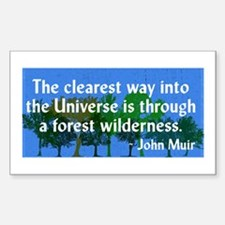 John Muir Nature Quote Wilderness Decal