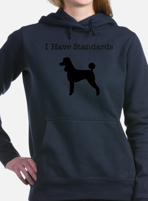 Cute Standard poodle Women's Hooded Sweatshirt