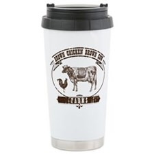 Cute Brown cow Travel Mug