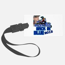 Reed Back in Blue Luggage Tag