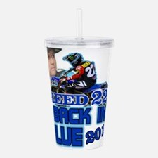 Reed Back in Blue Acrylic Double-wall Tumbler