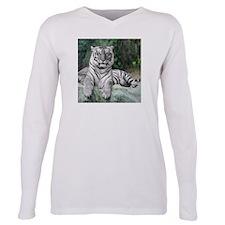 White Tiger Plus Size Long Sleeve Tee