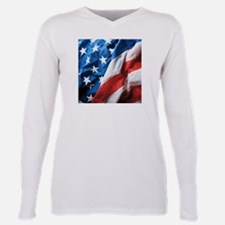 American Flag Plus Size Long Sleeve Tee