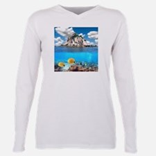 Tropical Paradise Plus Size Long Sleeve Tee