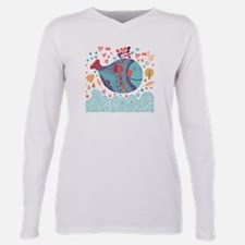 Whimsical Whale Plus Size Long Sleeve Tee