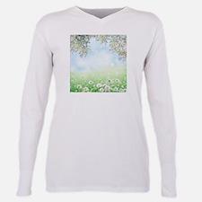 Dandelion Field Plus Size Long Sleeve Tee