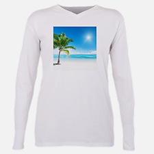 Beautiful Beach Plus Size Long Sleeve Tee