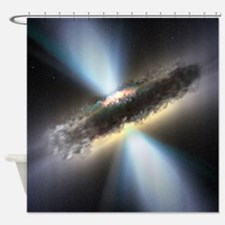 HIDDEN BLACK HOLE Shower Curtain