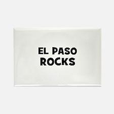 El Paso Rocks Rectangle Magnet