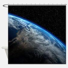 EARTH ORBIT Shower Curtain