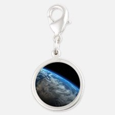 EARTH ORBIT Silver Round Charm