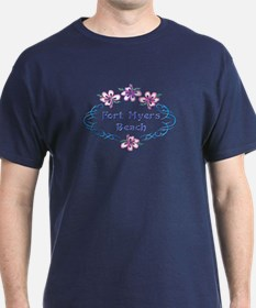 Fort Myers Beach: Flower Oval T-Shirt