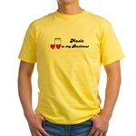 MUSIC IS MY BUSINESS Yellow T-Shirt