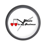 MUSIC IS MY BUSINESS Wall Clock