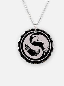 Dog-Cat Yin-Yang Necklace
