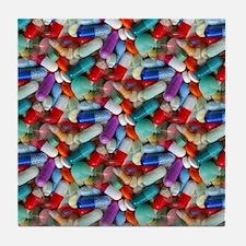 drugs pills Tile Coaster