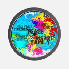 Good Vibes Color Splash Wall Clock