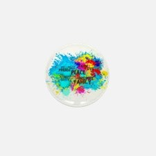 Good Vibes Color Splash Mini Button