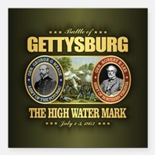"Gettysburg (battle) Square Car Magnet 3"" x 3"""