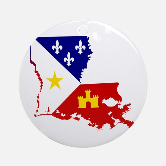 Acadiana State of Louisiana Round Ornament