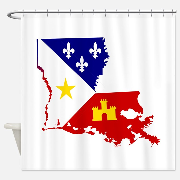 Acadiana State of Louisiana Shower Curtain