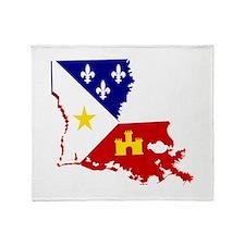 Acadiana State of Louisiana Throw Blanket