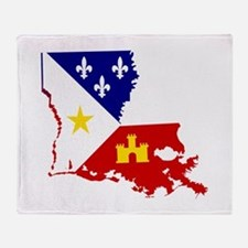 Acadiana State of Louisiana Throw Blanket