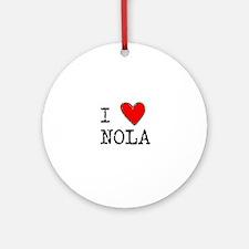 I Love NOLA Round Ornament