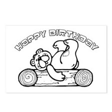 Color Your Own Birthday Bear Postcards (Package of