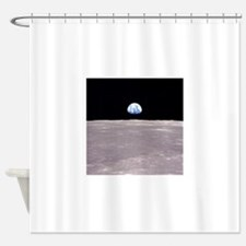Earthrise from Apollo 11 Moon Landi Shower Curtain