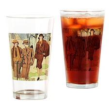 1920s Women Hunting Fashion Drinking Glass