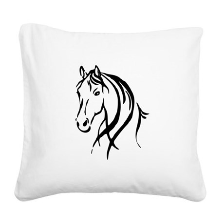 Horse Head Square Canvas Pillow By Admin Cp11861778